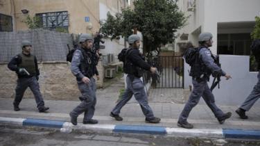 Israeli police in Tel Aviv, Israel, on 1 January 2016