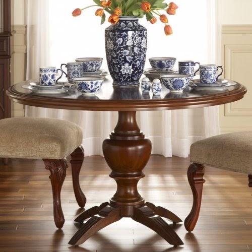 Schatz Dining Room: Interior Design Schools: Furniture:Round Dining Table Of Teak