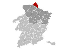 Vị trí của Hamont-Achel in Limburg