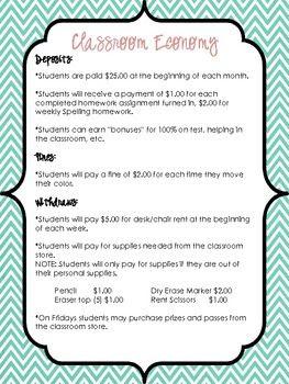 Classroom Economy Checkbook System