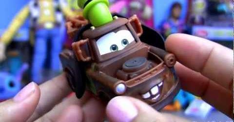 Cars 2 Goofy Mater AND Mickey Lightning Mcqueen Disneyworld Magic Kingdom Disney park