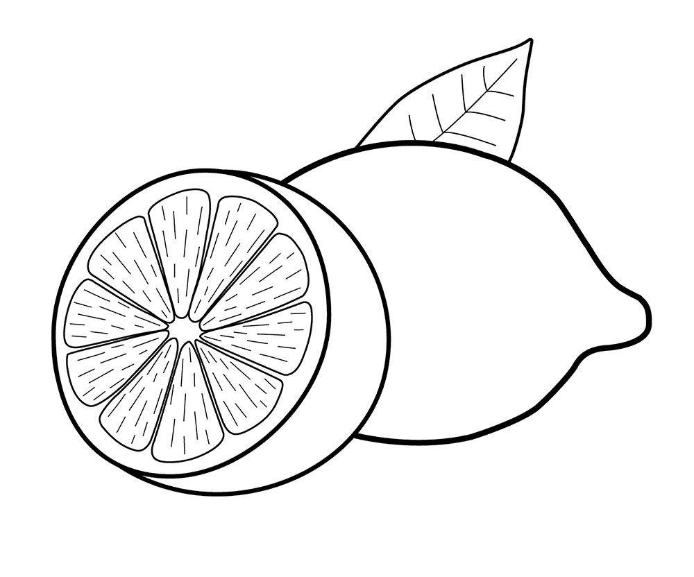 10 Dibujos De Limones Cortados A La Mitad Para Colorear