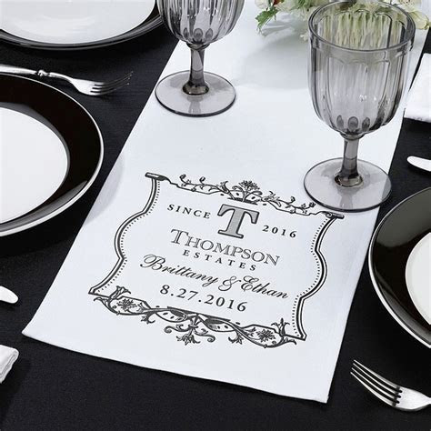 Personalized Wedding Table Runners