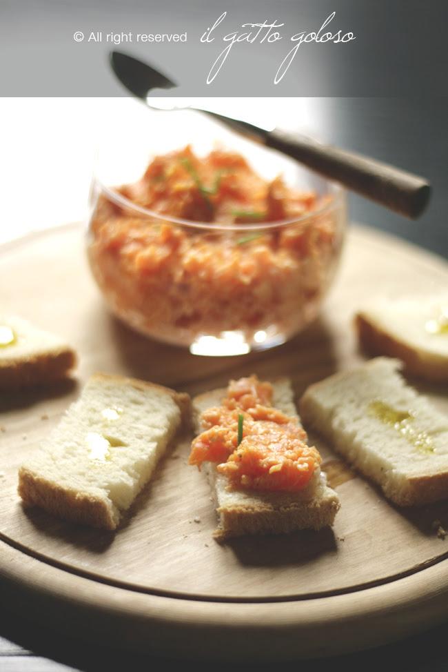 cremina di carote al profumo di zenzero ed erba cipollina