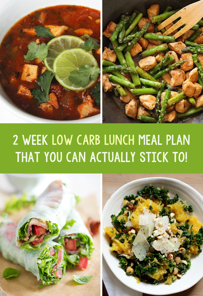 2 Week Low Carb Weight Loss Lunch Meal Plan That You Can ...