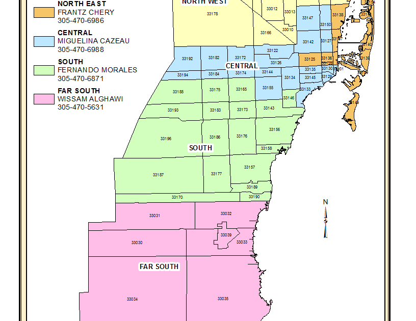 32 dade county zip code map - maps database source
