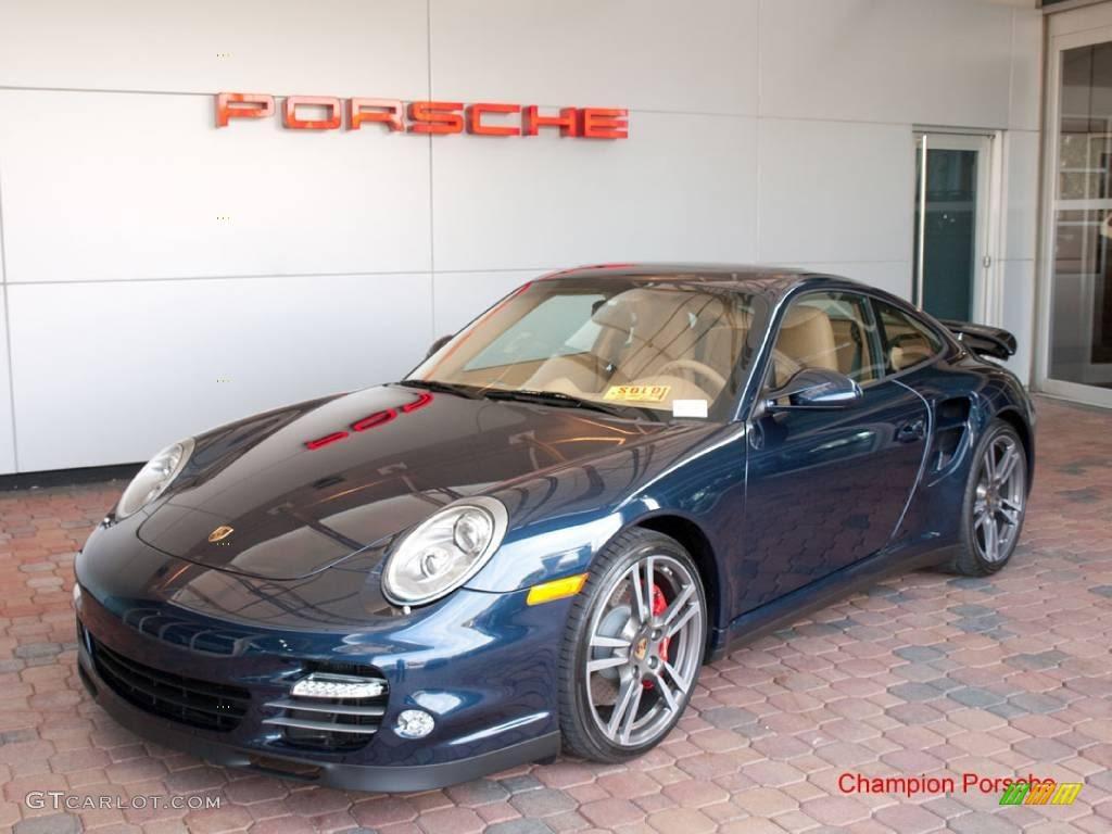 2010 Dark Blue Metallic Porsche 911 Turbo Coupe 24944908