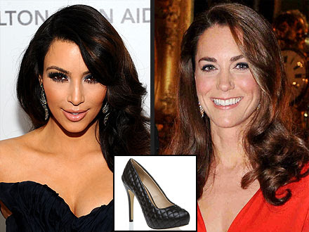 Kim Kardashian Sapatos Kate Middleton