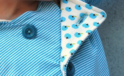 Knoopsgat in tricot