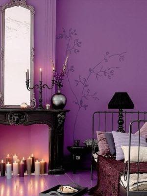 purple bedroom graphic