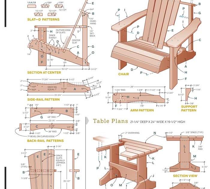 Work Witk Good Wood Design Share Adirondack Chair Plans