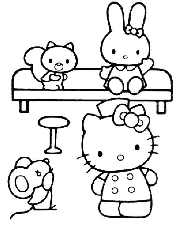 hello kitty ausmalbilder zum ausdrucken kostenlos