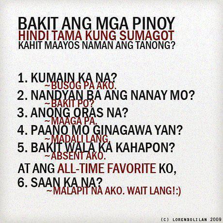Bakit ang mga Pinoy?