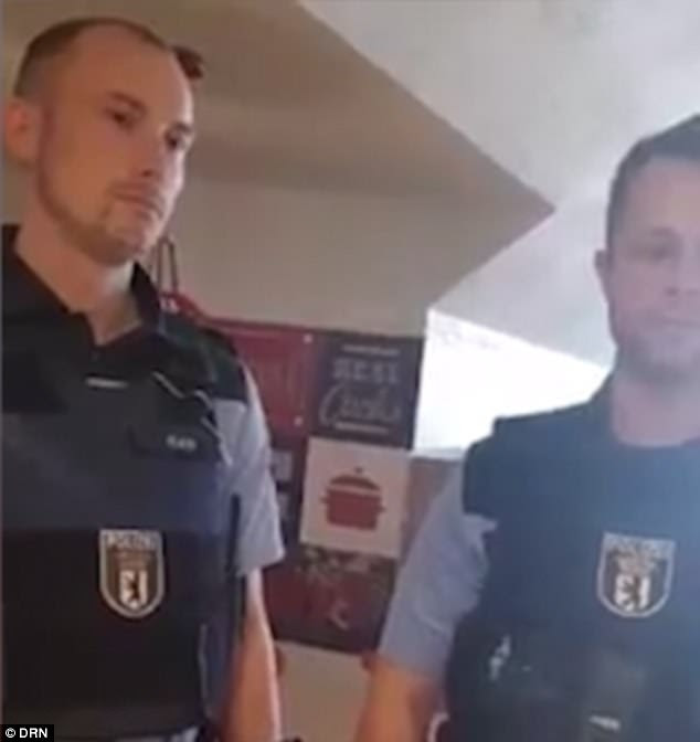 Two officers were initially sent to the KFC branch in the Mitte district of Berlin