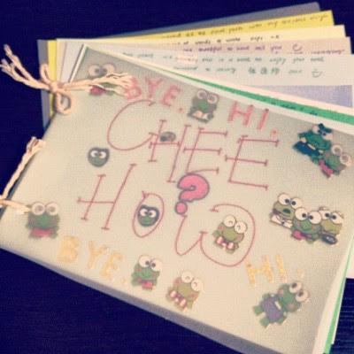 Another card made, kiddish though. Haha! But can't expect much from a pri sch teacher?:P (Taken with Instagram)