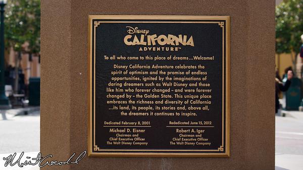 Disneyland Resort, Disney California Adventure, Buena Vista Street, Dedication Plaque, 13, Birthday, Anniversary