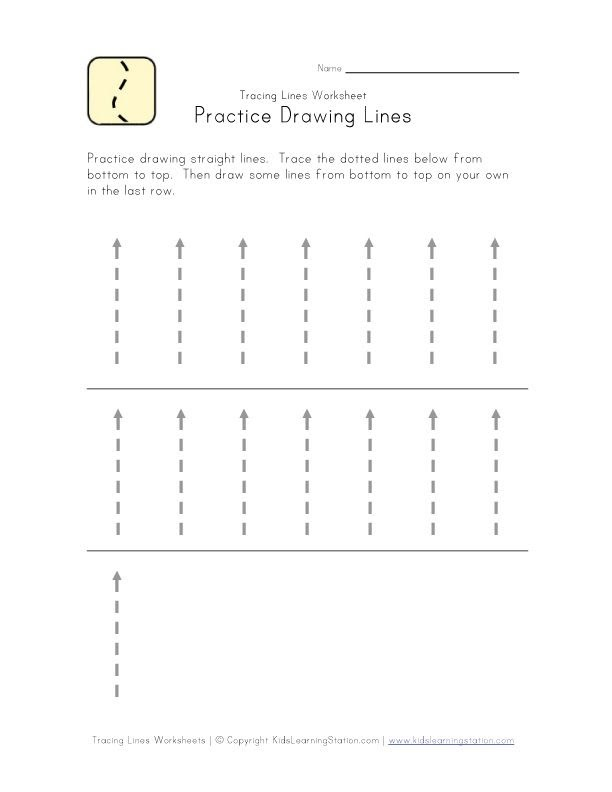 Straight Line Tracing Lines Worksheets For 3 Year Olds