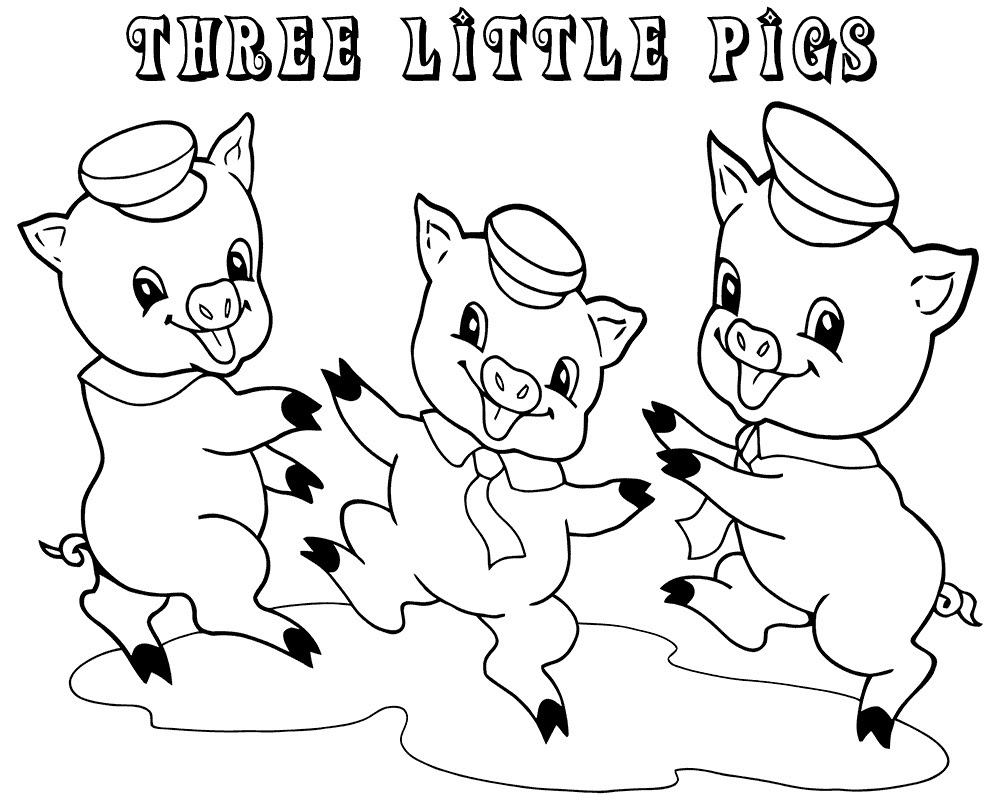 3 Little Pigs Coloring Pages for Preschoolers | Learning ...