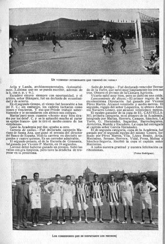 Crónica de un partido de fúbol en la Escuela de Gimnasia de Toledo en 1924. Diario El Castellano.