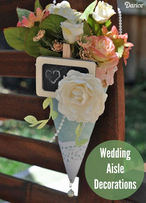 Wedding Aisle Decorations: Paper Posy Holders