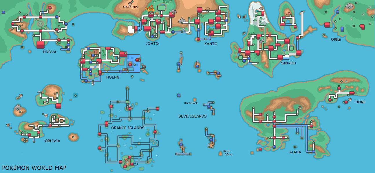 World map and locations images pokemon images pokemon world map and locations images pokemon images gumiabroncs Choice Image