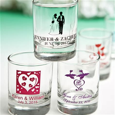 Round Shot Glass/Votive Candle Holder with Custom Designs