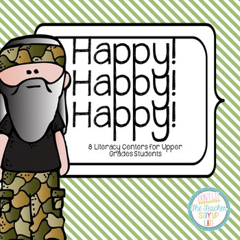 Happy Happy Happy Literacy Centers - Comprehension and Wor