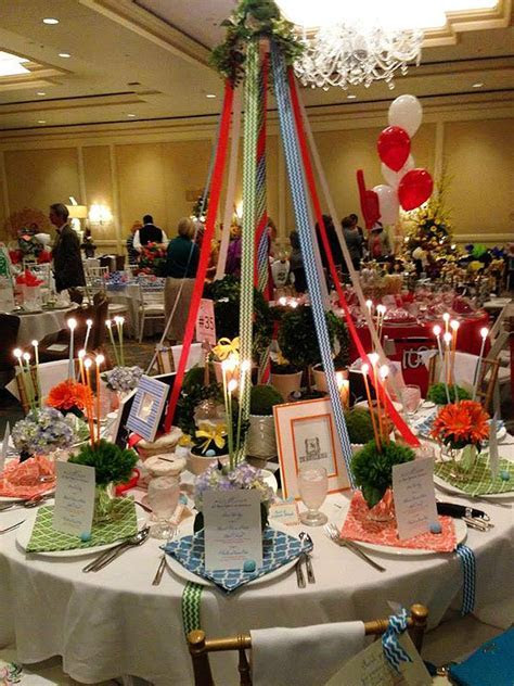 The St. Louis Service Bureau   Maypole inspired table