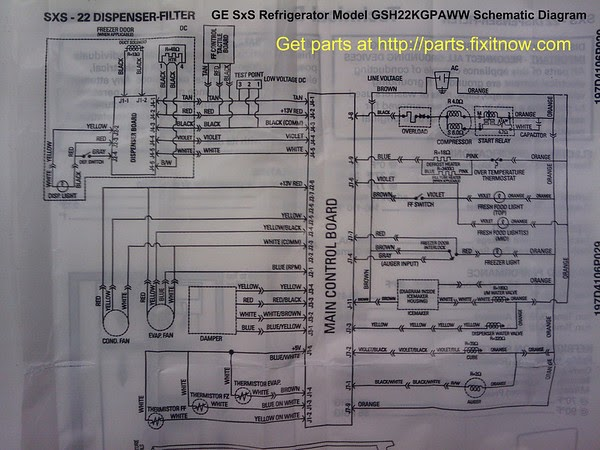 Electrical Diagram Ge Refrigerator Circuit Diagrams