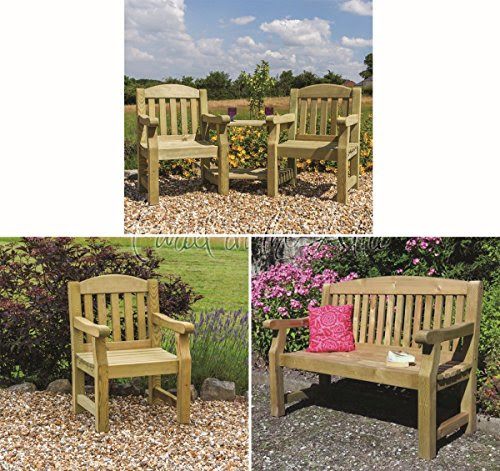 Solid Wood Outdoor Furniture Garden Dining Set Table Chairs Companion Seat Bench  10 Year