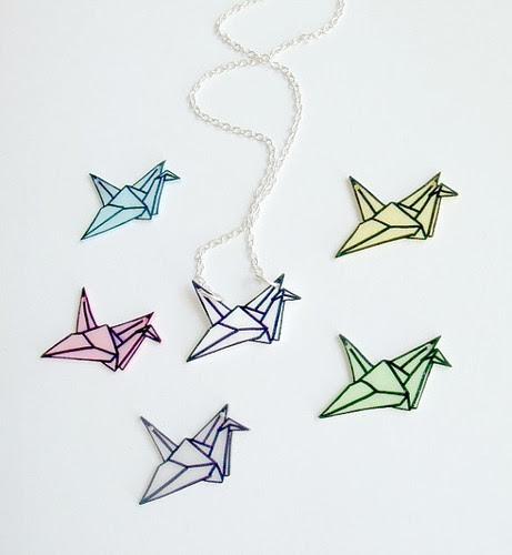 Origami-Crane-Necklaces