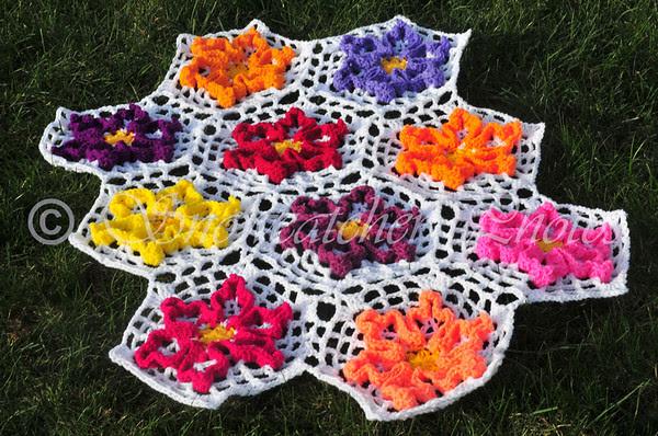 Wiggle Flower Afghan