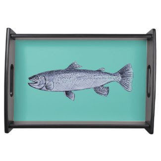 Fish Art on Serving Tray