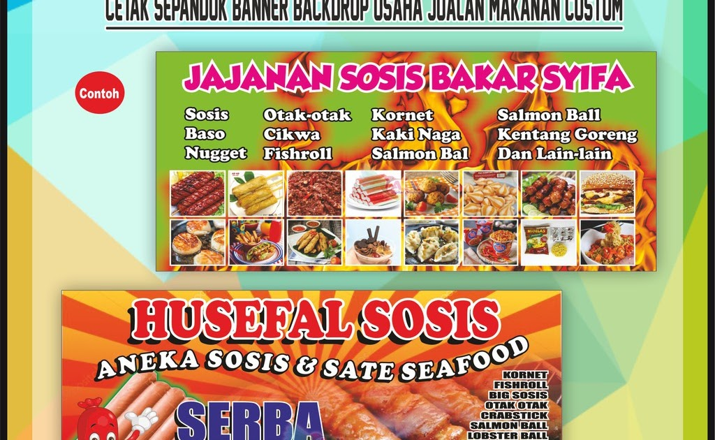Desain Banner Makanan Dan Minuman - desain spanduk kreatif