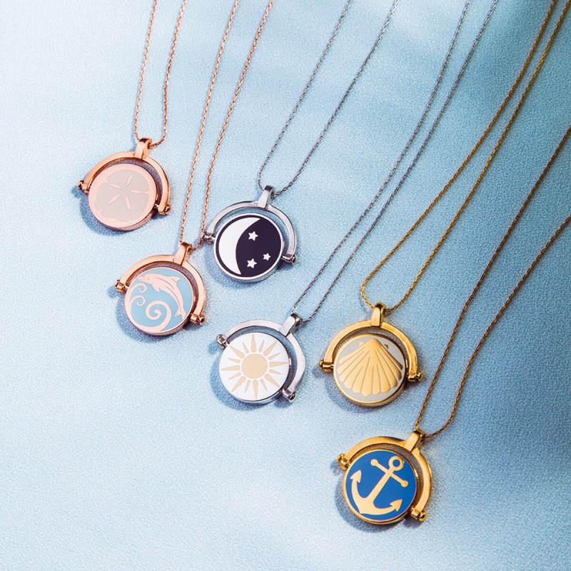 Sun & Moon Color Infusion Expandable Necklace