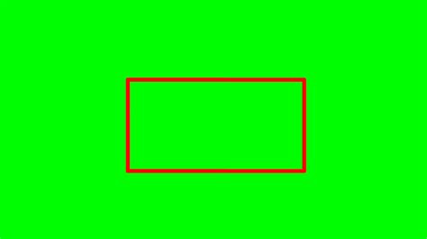 animated green screen rectangle effect  youtube