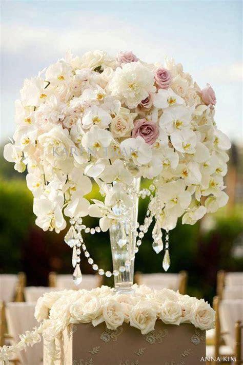 Wedding Ceremony Flowers   Chandelier centerpiece