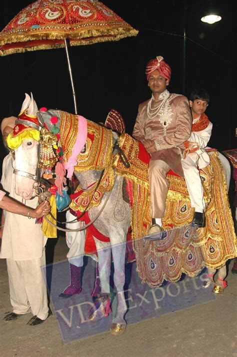 DECORATED WEDDING HORSE COSTUME ELEPHANT HOWDAH and Indian