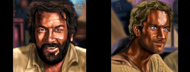 Bud Spencer - Terence Hill by joshdancato on DeviantArt