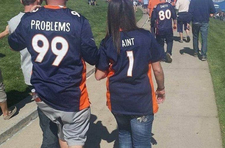 Nice Couple Jerseys Funny Pictures Quotes Memes Funny Images