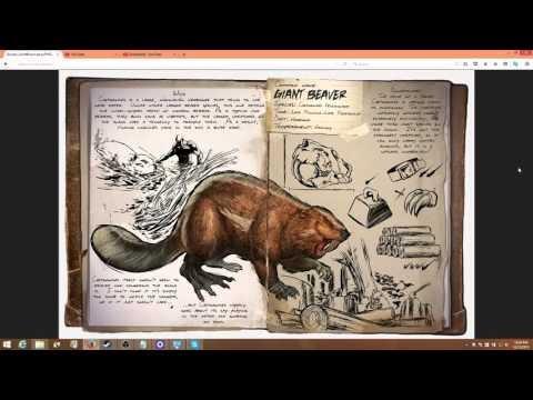 Castoroides the Giant Beaver! (ARK: Survival Evolved) Dossier