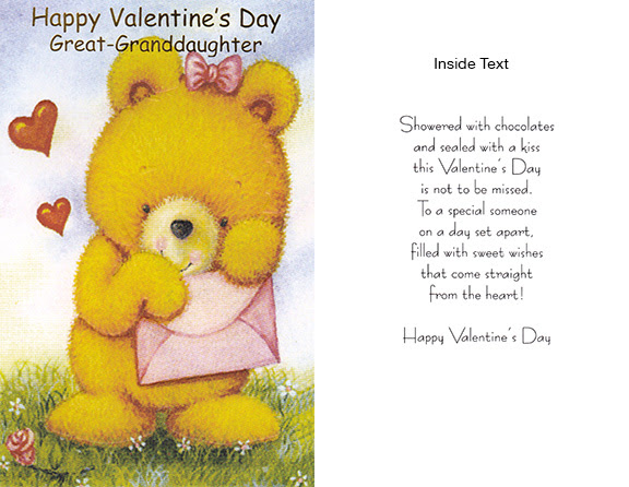 Great Granddaughter Valentines Day Cards