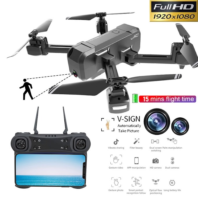 GPS Drone With Wifi FPV HD 1080P Camera Brushless Quadcopter Gesture Control Foldable Dron Vs SJRC F11 PK CG033