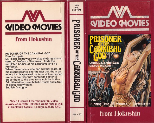 PRISONER OF THE CANNIBAL GOD (VHS Box Art)