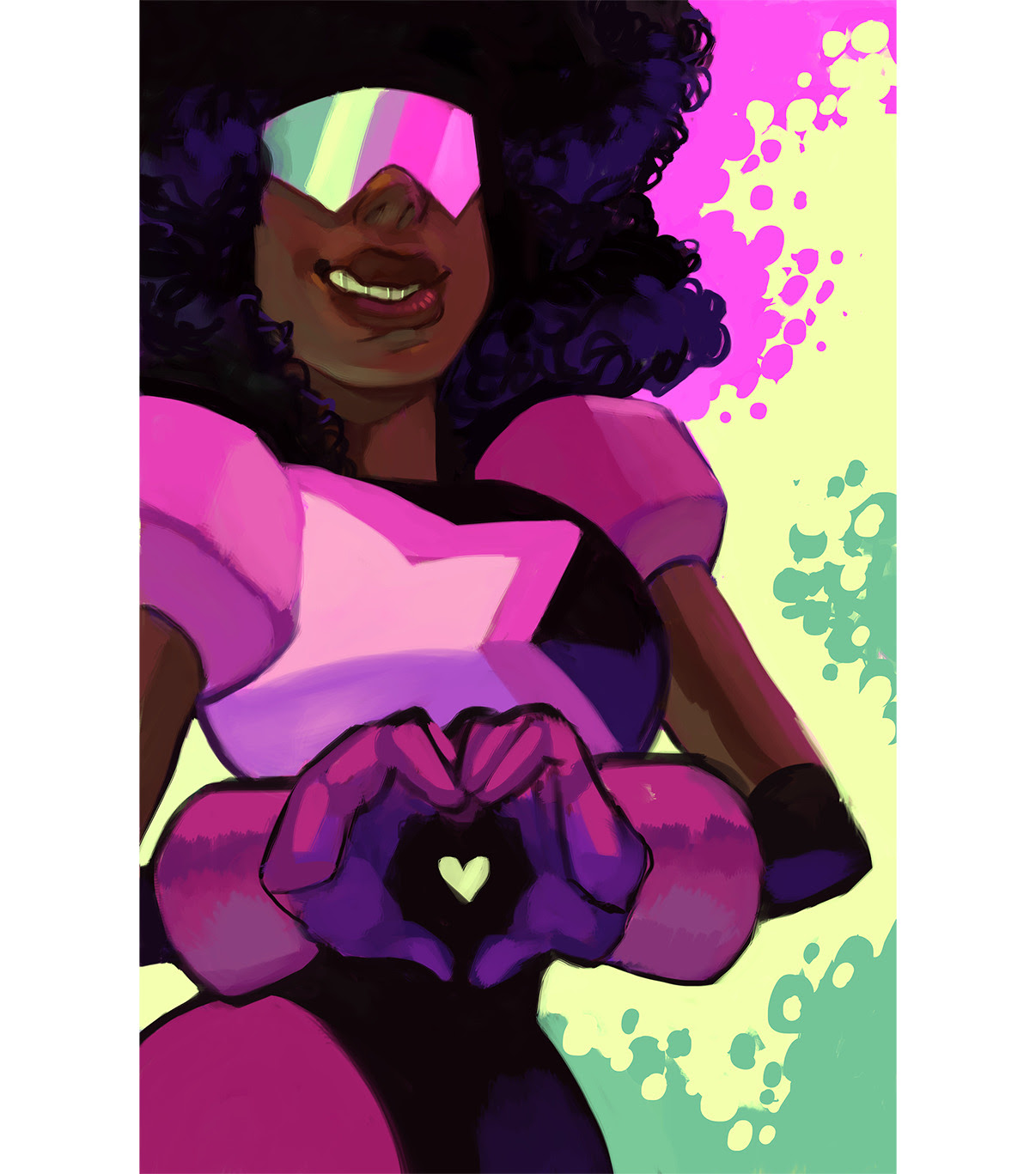 I'm doing Garnet +4 other gems, she's the most done so far! : ]