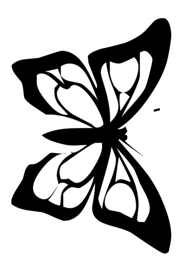 Dibujos Para Colorear Una Mariposa Rosa Eshellokidscom