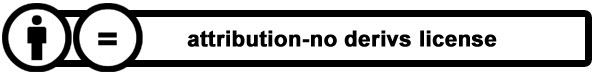 Attribution - No Derivs License