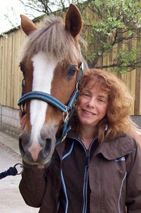 Mary Sharratt and Boushka, her Welsh mare