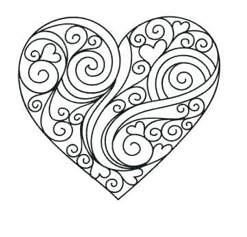 flower heart coloring pages at getcolorings  free printable colorings pages to print and color