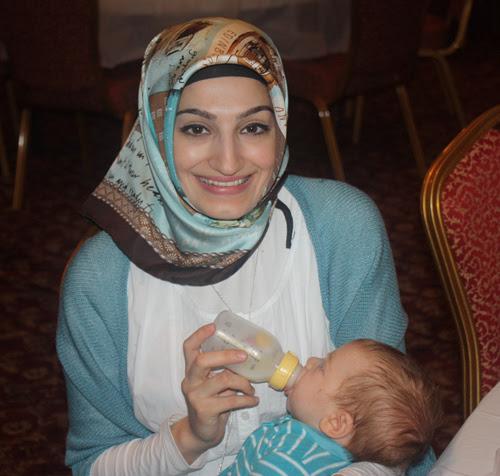 Seyma Gurer and infant son